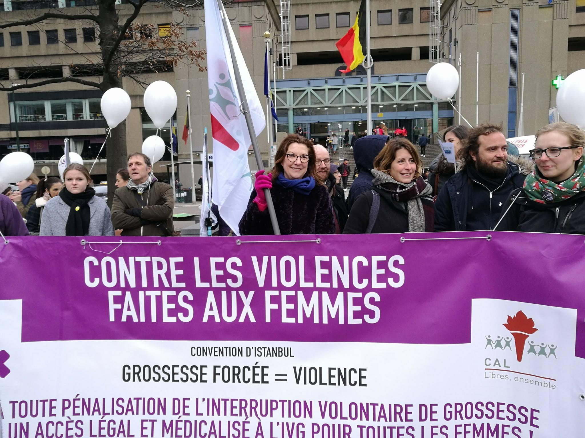 Manifestation contre les violences faites aux femmes