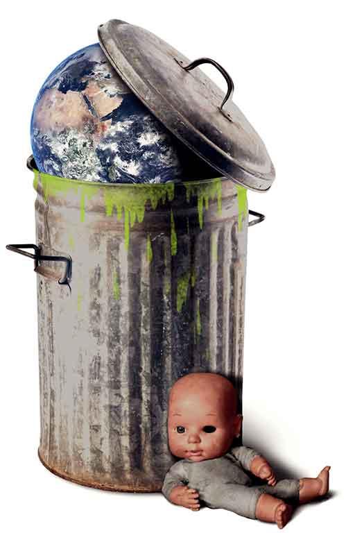 Atmosphère poubelle et droits souillés
