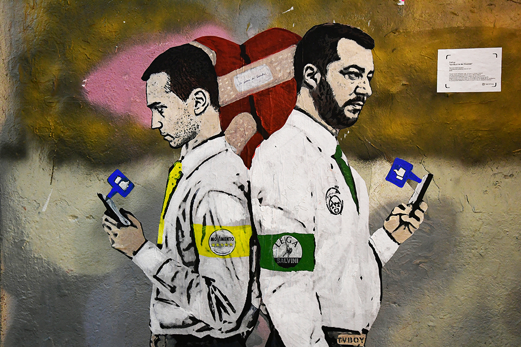 ITALY-CULTURE-STREET-ART-POLITICS-GOVERNMENT