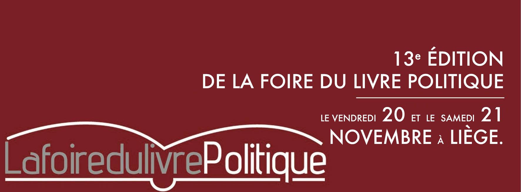 Foire du livre politique – 13e édition