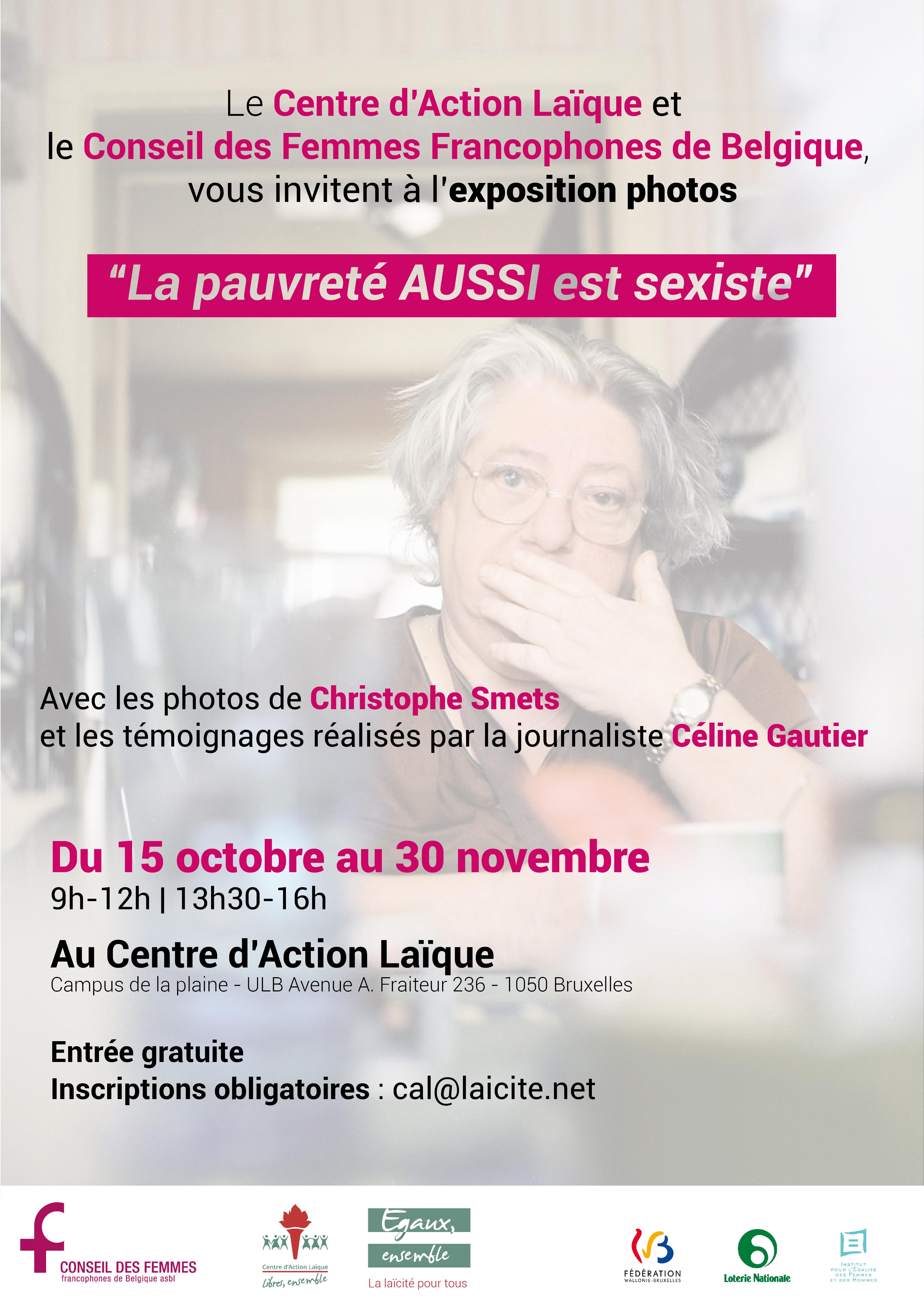 Exposition photos «La pauvreté AUSSI est sexiste»