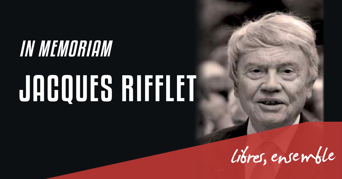 In Memoriam: Jacques Rifflet