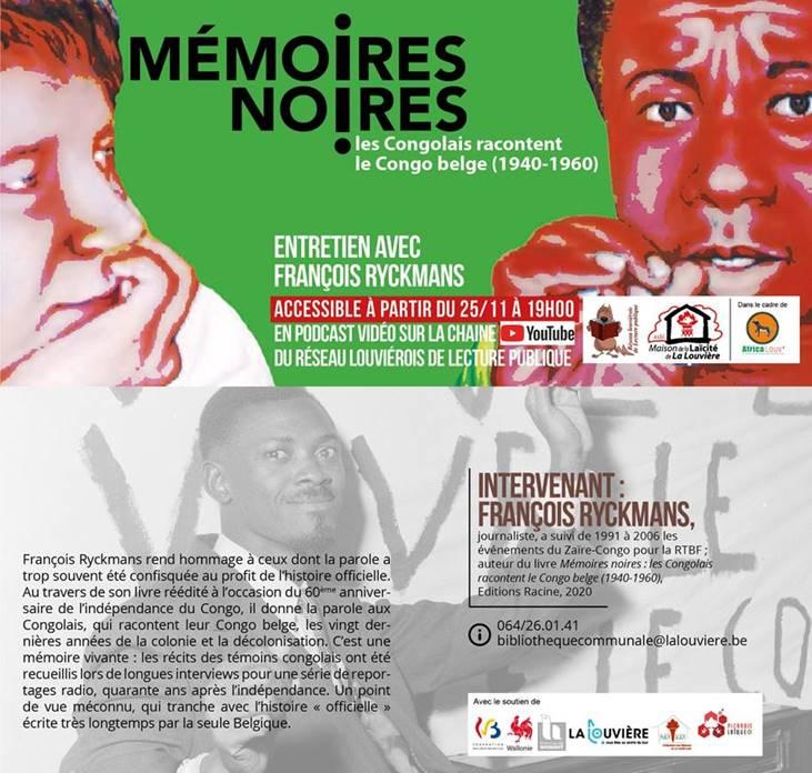 Mémoires Noires : les Congolais racontent le Congo belge (1940-1960)