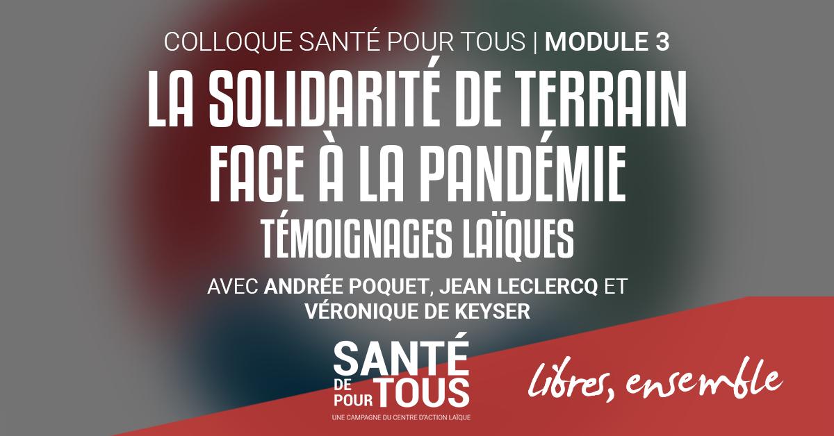 VIDEO | La solidarité de terrain face à la pandémie