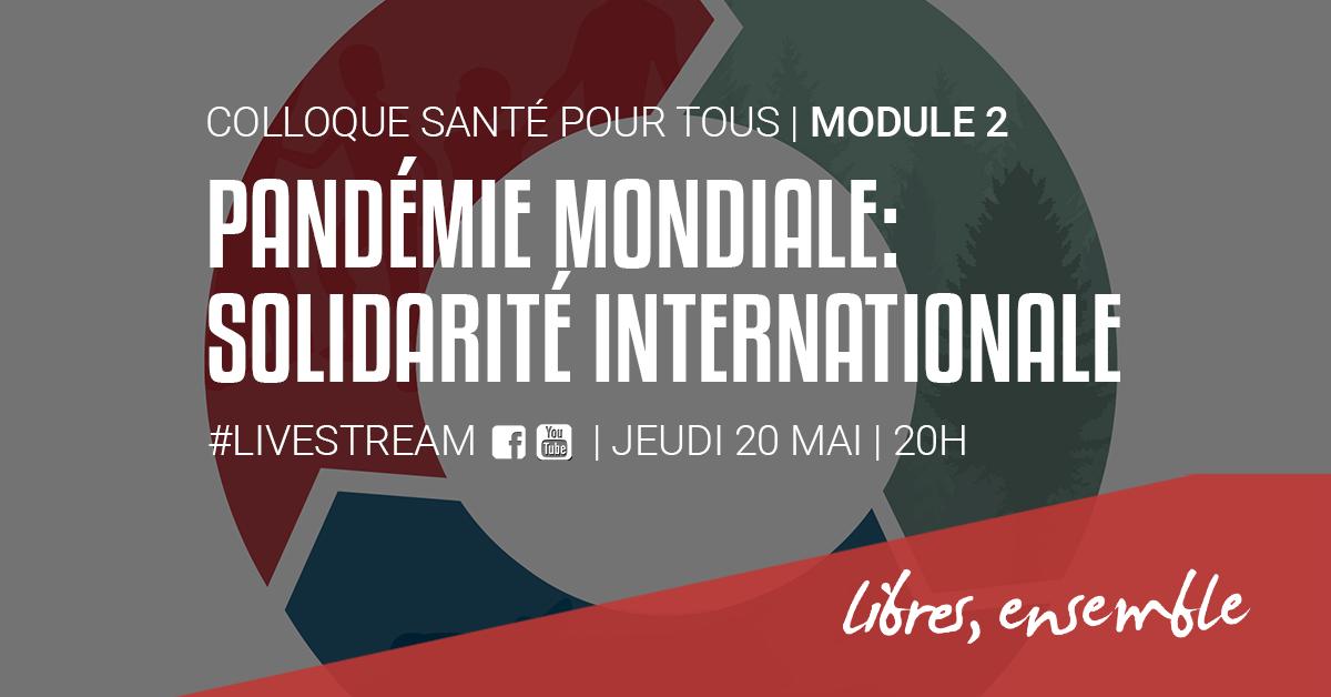 VIDEO | Pandémie mondiale: solidarités internationales