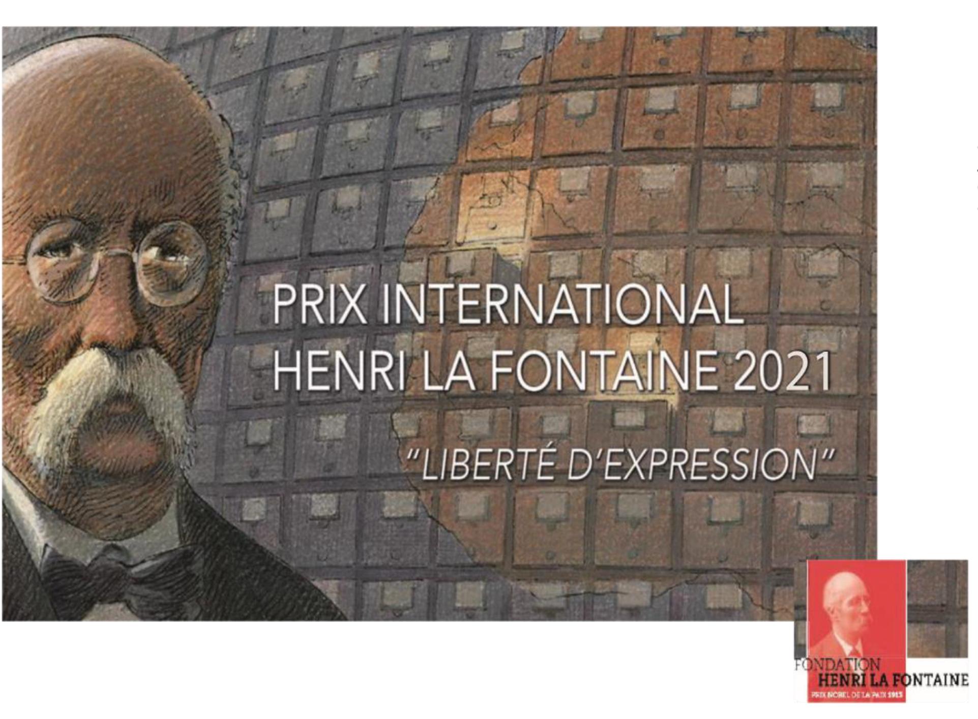 Prix International Henri La Fontaine 2021